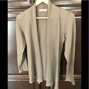 Chris & Carol Tan Cardigan Sweater. Size S. NWOT.